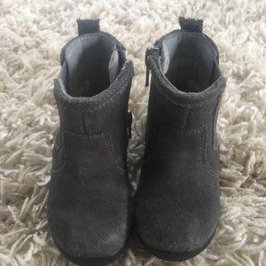 Stride Rite grey suede booties